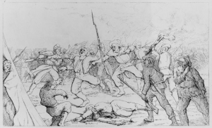 Fight for Santa Rosa Island 1861 by Adalbert John Volck (Courtesy Library of Congress)