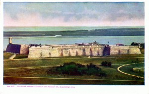 Castillo de San Marcos from an early postcard (Courtesy Florida Memory Project)