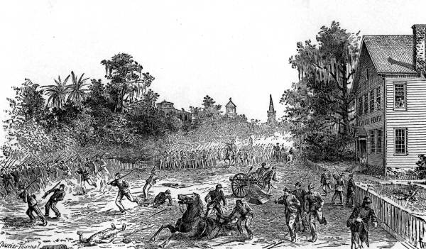 Battle At Gainesville 1864 Department Of Military Affairs