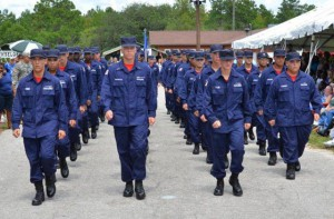 Photo of Fla. Youth ChalleNGe cadets marching